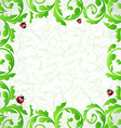 Eco friendly background with copy space for your vector image vector image