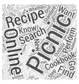 Picnic Recipes How to Find Them and Why You Should vector image