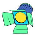 studio lighting icon cartoon vector image