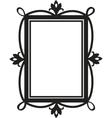 cute doodle frame element for design vector image