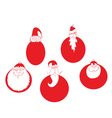 santa claus christmas baubles vector image vector image