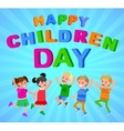 happy childrens day vector image