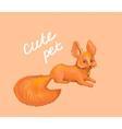 fox cute pet vector image