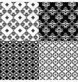 Set of Damask seamless pattern vector image vector image
