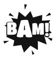 comic boom bam icon simple black style vector image