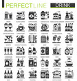 drinks and beverages classic black mini concept vector image