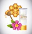 honey face cream vector image