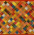 seamless tartan pattern checkered colorful bright vector image