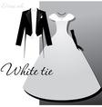 white tie vector image