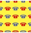 Seamless Retro Red Blue Phone Pattern vector image vector image