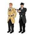 Detective or policeman cartoon design vector image