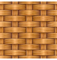 wooden basket weaving vector image vector image