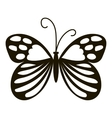 Beautiful butterfly icon simple style vector image