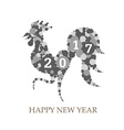 2017 Happy New Year Celebration Chinese New Year vector image vector image