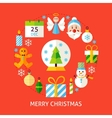 Merry Christmas Flat Concept vector image