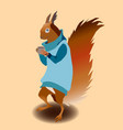 squirrel in sweater vector image