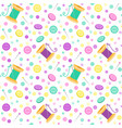 seamless pattern with sewing related symbols vector image