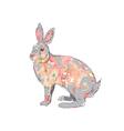 hand drawn watercolor rabbit vector image