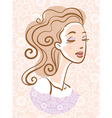 portrait of beautiful woman vector image vector image