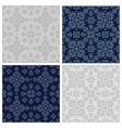 The set of simple linear seamless patterns vector image vector image