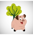 Animal design pig icon Isolated vector image
