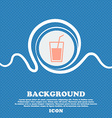 Soft drink icon sign Blue and white abstract vector image