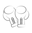 boxing gloves icon image vector image