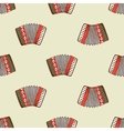 Seamless pattern with accordion vector image
