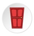 Entrance door icon cartoon style vector image