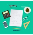 School lesson study concept education geometry vector image