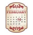 Valentines calendar vector image