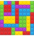 blocks plastic constructor vector image vector image