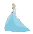Beautiful princess - doodle vector image
