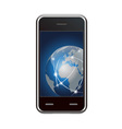 smart phone and global network vector image vector image