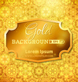 Luminous gold background vector image