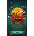 Jungle shamans mobile GUI game loading screen vector image