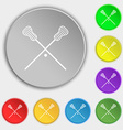 Lacrosse Sticks crossed icon sign Symbol on eight vector image