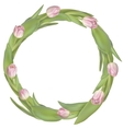 Circle frame with tulips flowers EPS 10 vector image