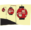 Japanese Lanterns vector image