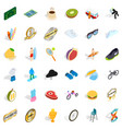 achievement icons set isometric style vector image