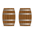 barrel two icon in brown vector image