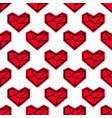 heart seamless pattern for valentines day vector image