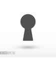 Keyhole - flat icon vector image