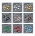 Texture for platformers pixel art stone vector image