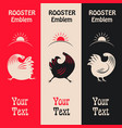 vertical banners with a cock vector image