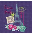 Scrapbook Design Elements - Paris Vintage Card vector image