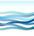 blue wavy stripes vector image