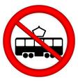 No tram sign vector image