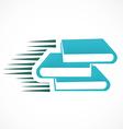 book e book logo vector image