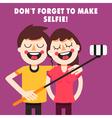 Couple taking selfie vector image